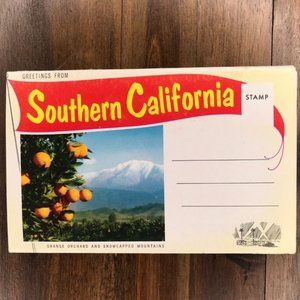 Vintage Southern California Travel Postcard Book